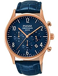 Pulsar Herren-Armbanduhr Chronograph Quarz Leder PT3788X1