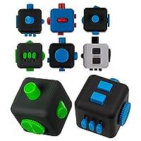 OOTB 61/6622 kunststoff-finger-cube, Nero - IDEALE PRODOTTO DEL STRESS abzubauen - 6 lati con 6 diversi FUNZIONI - adatto in IL tasche dei pantaloni e kann PER OGNI TEMPO essere utilizzato