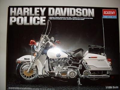 Harley Davidson Police Bike, Modell Bausatz 1:10, Academy Model Kits von Academy
