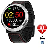 Smart Watches Round Smart Watch Unlocked Sports Writ Watch mit Touch Screen Fitness Tracker Smartwatch Android Smart Phones iOS Männer Frauen Kids,Black