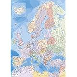 Landkarten Giant XXL Poster - Europakarte - Bildungsposter 1:34 Mio - Größe 100x140 cm German Version