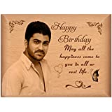 TheLoveMoments - Happy Birthday Personalised Gift - Wooden Photo Frame By Engraving Process 4 Inch X 5 Inch