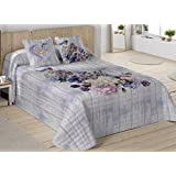 COTTON ART. Colcha Bouti Modelo MONIQUE cama de 135 ( 240 x 260 cm). Algodón 100%.