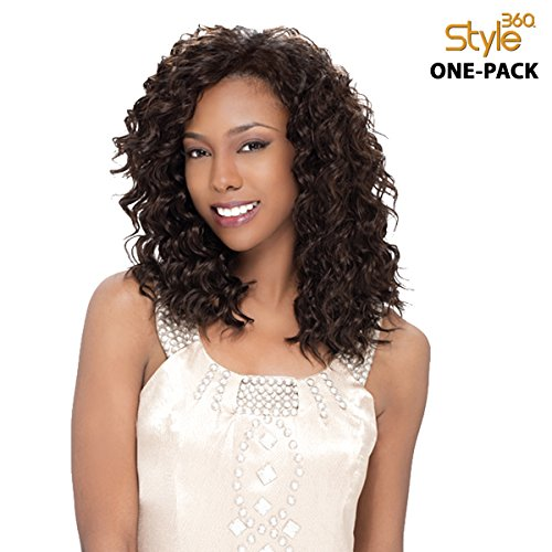 Pack complet (4 pièces) sensationnel style 360 – Loose Deep 12, 14 '(One Pack Complete) Human Hair Blend Weave tresse