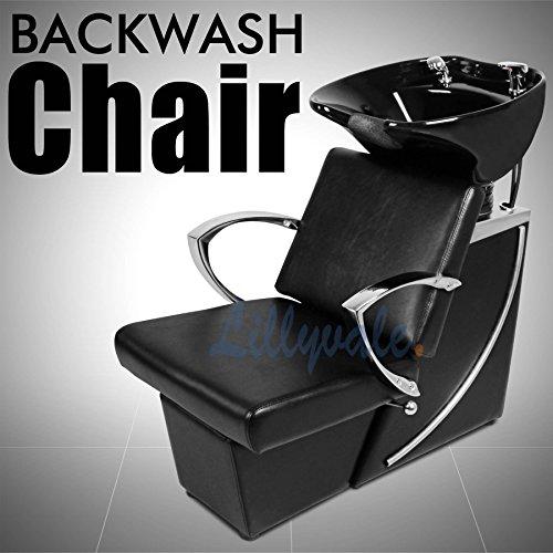 Lillyvale® Hair Washing Backwash Unit Back wash Salon Barber Chair Hairdressing Shampoo Hollywood Black