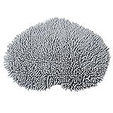 Love Heart Shape Floor Mats - SODIAL(R)Love Heart Shape Floor Mats Anti-skid Fluffy Bath Foot Pad Carpet Mat (gray)