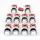 EG STARTS 10 x Nuovo Arcade pulsanti 30 mm LED colore piena pulsante con micro interruttore per Arcade macchina per modalitã Jamma PC gioco Multicade pezzi