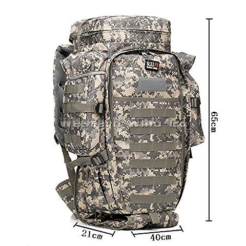 60L Military Rucksacks Backpacks Camping Hiking Trekking Bags Sports&Outdoors UK (ACU Camouflage)