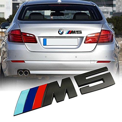 Preisvergleich Produktbild buy-buy-buy Hochwertiger Metallaufkleber / -Emblem in Schwarz für Kofferraum M5
