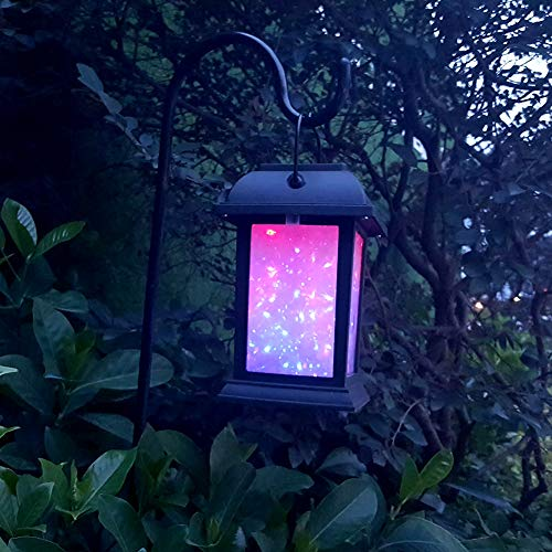 LED-Wasserdichte Solarbetriebene Landschaftsrasen-Lampe, mit 7Colors 3D...