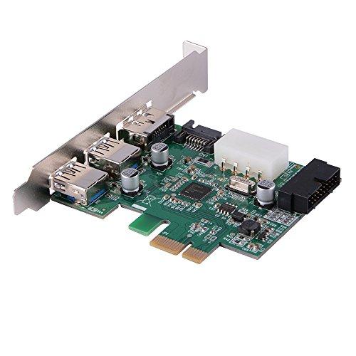 Desktop PCI-E auf 2-Port USB 3.0 + eSATA Erweiterungskarte mit 4-Pin Power Connector und internem USB 3.0 19-Pin Stecker für Windows XP / Vista / 7 - Erweiterungskarte Esata