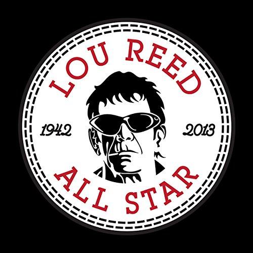 Lou Reed All Star Converse Logo Men's T-Shirt Black