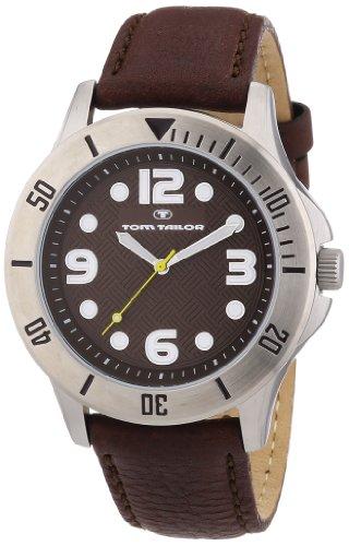 Tom Tailor Herren-Armbanduhr XL Analog Leder 5407202