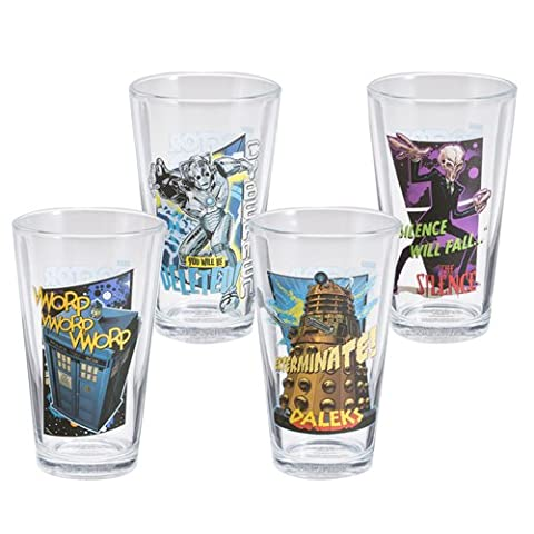 Doctor Who 4 Pc. 16 Oz. Glass Set