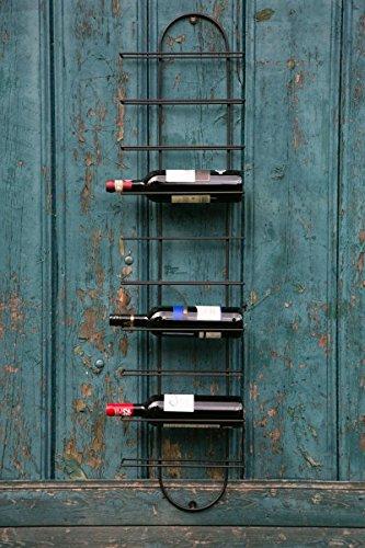 KUHEIGA Weinregal für die Wand, schwarz H: 116cm Flaschenregal Weinflaschenregal - 116 Wand