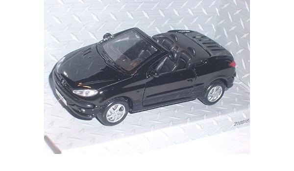 Peugeot 206cc 206 Cc Schwarz Ca 1 43 Maisto Modell Auto Modell Auto Spielzeug