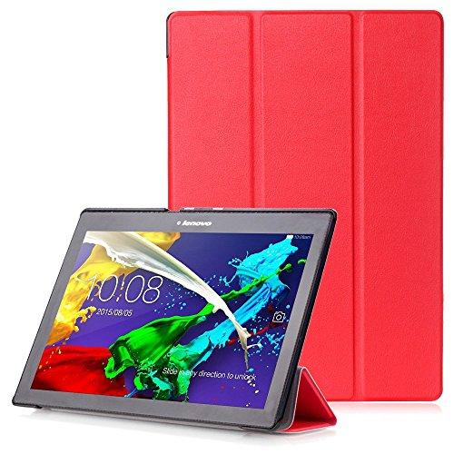 """Lenovo Tab 2 A10 / Tab3 10 Plus / Tab3 10 Business Hülle - Schutzhülle mit Auto Aufwachen / Schlaf Funktion für Lenovo Tab 2 A10-30 / A10-70 / Tab3 10 Plus / Tab3 10 Business 10.1"""" Tablet, Rot"""