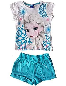 Disney - Junto Camisetas + pantalones cortos Frozen El reino del hielo - 8 ANS, Blanc