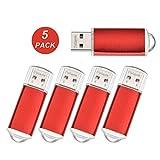 2GB USB-Flash-Laufwerk 5 Stück - USB Stick - Datarm Speicherstick für Werbung Rot Pack