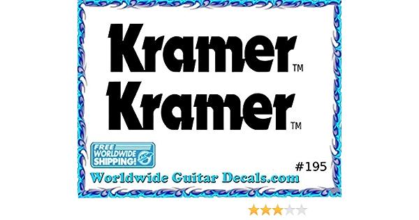 Kramer Guitar Decal Headstock Waterslide Restoration logo 195