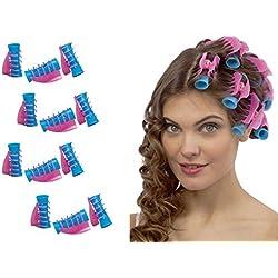 takestop® Lot de 12bigoudis avec pince Professionnel Coiffure cheveux bouclés