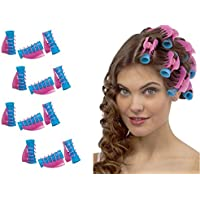 takestop KIT 12 PEZZI BIGODINI CON PINZA PINZETTA hair rollers CLIP PROFESSIONALI ARRICCIA CAPELLI ACCONCIATURA BOCCOLI RICCI PERFETTI