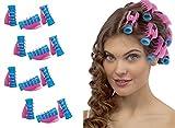 takestop® Kit 12Stück Lockenwickler mit Zange Pinzette Hair Rollers Clip Professionelle Locken Haar Frisur Locken Locken perfekt