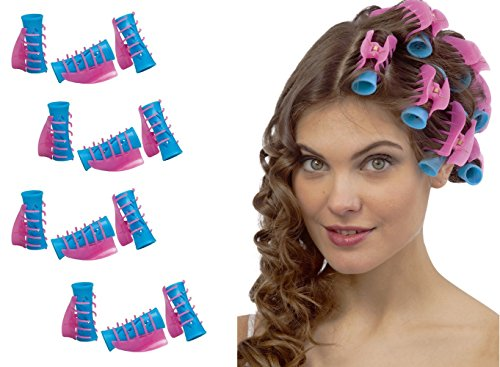 - Takestop® - Kit de 12 rulos con pinza para el cabello. Rulos profesionales perfectos para rizar el pelo y para crear peinados y bucles perfectos