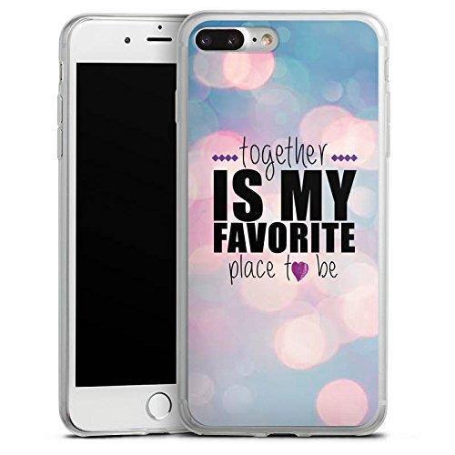 Apple iPhone 8 Slim Case Silikon Hülle Schutzhülle Liebe Freundschaft Statement Silikon Slim Case transparent