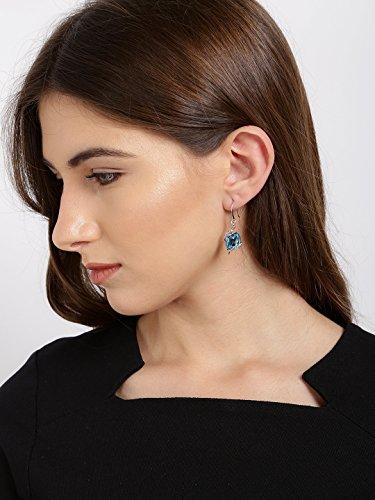 Yellow Chimes Swarovski Elements Angel Guardian Blue Crystal Dangle Drop Earrings For Women