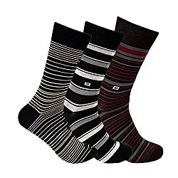 Supersox Mens Regular Length Socks (Pack of 3) (MMCD0059_Multi-Coloured_Free Size)