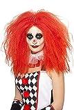 Smiffys Unisex Grusel Clown Perücke, One Size, Rot, 44741