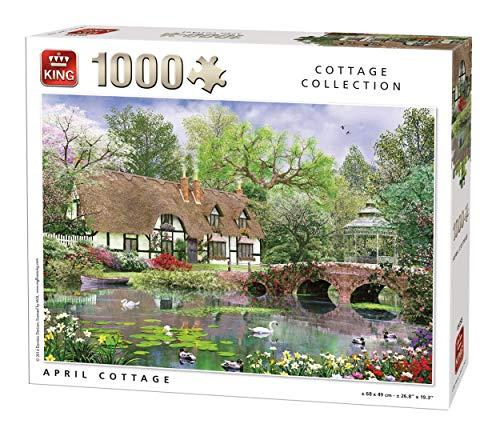 King Classic Collection April Cottage Jigsaw Puzzle 1000 Pieces - April Cottage
