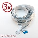 AZDelivery Câble de remplacement flex 200cm pour caméra/écran raspberry pi et arduino (3x 200cm)