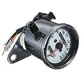 Doble odometro de motocicleta - SODIAL(R)Doble odometro de velocimetro de luz de fondo LED de senal de motocicleta universal