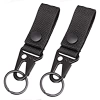 Magarrow Tactical Keychain Belt Clip Molle Strap Webbing Attachment Strap Hanging Snap Hook Clip