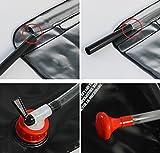 Ailiebhaus Portable 20L PVC Outdoor Camping Solarenergie Shower Bag Solardusche Wasser Beutel (Schwarz) - 6