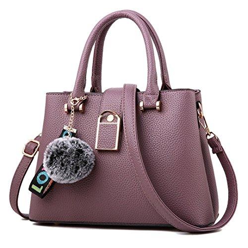 Frauen Taschen Großhandel Schultertasche Handtaschen Lady Diagonal Handtasche purple 28.5x21x12cm