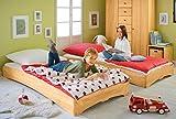 BioKinder 22132 Leandro Spar-Set Kinderbett Stapelbett aus Massivholz Erle 90 x 200 cm 2 Stück