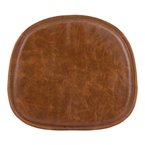 Eames Inspired Coussin de chaise similicuir pour Style Eames DSW, DSR, DSS Medium Vintage Marron