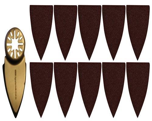 Agrartechnik-Graf Fingerschleifaufsatz Klettverschluß Inkl. 10 x Schleifpapier für AEG BWS