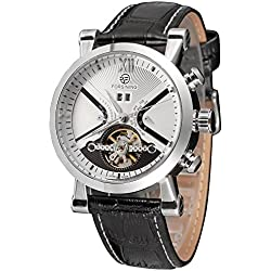 Forsining Men's Fashion Automatic Calendar Steampunk Wrist Watch FSG2371M3S2