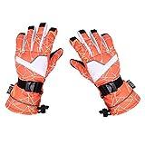 MagiDeal Skihandschuhe Damen Winter Wasserdicht Snowboard Fahrrad Skifahren Warm Handschuhe Winddicht, 16 Farben - Orange