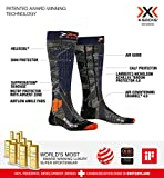 X-Socks Rider 4.0, Calze Invernali da Sci Unisex - Adulto, Stone Grey/Melange Blue, M