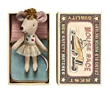 Enlarge toy image: Maileg - Little Sister Matchbox Mouse in Tulle Ballet Skirt 2016 - Boxed With Bedding - toddler baby activity product