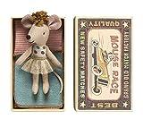 Maileg-Little Sister Matchbox ratón en tul falda de ballet 2016-en caja con ropa de cama