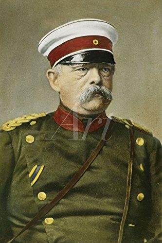 Artland Qualitätsbilder I Poster Kunstdruck Bilder 40 x 60 cm Menschen historische Persönlichkeiten Malerei Grün B9QP Otto von Bismarck