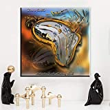 Salvador dali Rigetto della civilta Relojes Surreal Classic Art Pintura Seda Poster Decor Envío Gratis 60 * 60 cm