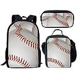 Coloranimal, Kinder Schultaschen-Set, Baseball Backpack+lunch Bag+pencil Case (Mehrfarbig) - K-CC5317C+G+K