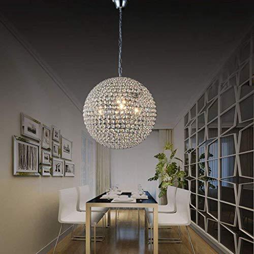 AXCJ Lustre - Le Lustre d'éclairage - Cristal Moderne bfixture plafonnier comptoir Partie 1 Lumineux Salle à Manger Salon de l'entrée de l'éclairage intérieur Couloir de la Chambre à Coucher,20cm